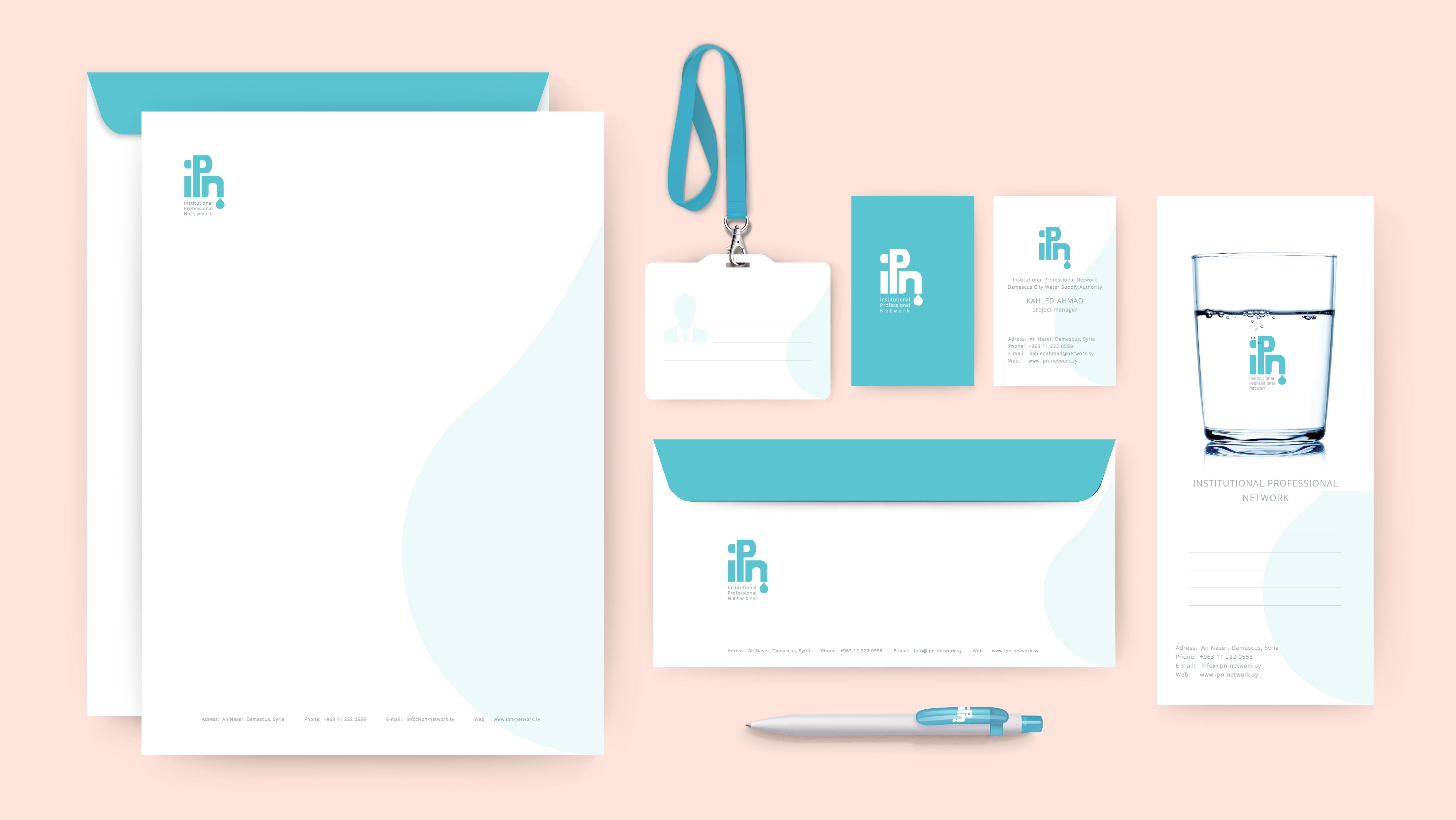 Nour, Alnader, Logo Design, IPN, Wasser, Stationary, Corporate, Branding, Web, design, Gestaltung
