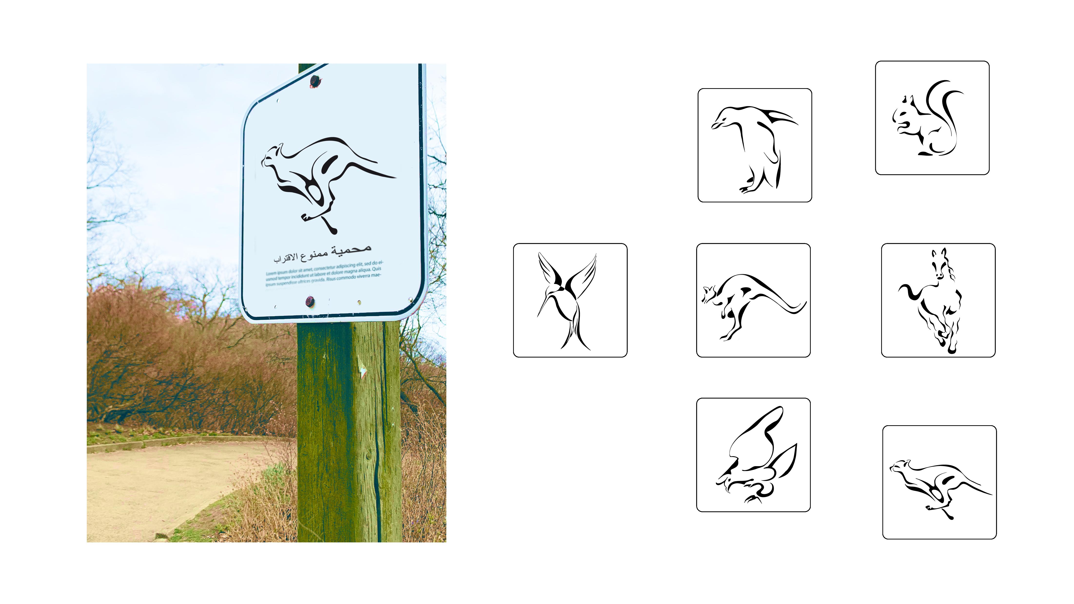 Nour, Alnader, Sign, Symbol, Reinzeichnung, Illustrator, Zoo, Syrian